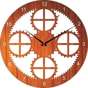 Wooden cutting wall clock laser cutting antique wall clock (103)