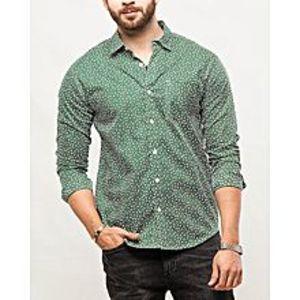 DenizenGreen Cotton NFL Bears L/S Woven Shirt Special Online Price