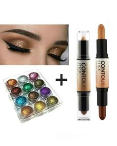Special Deal Highlighter And Concealer Contour Stick + 12 Dusty Eyeshades