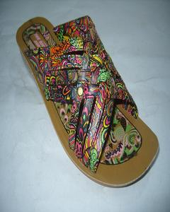 Rexine Chappal For Women - Multicolour