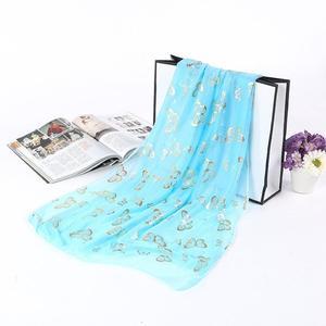 Elegant Butterfly Scarves For Women Vintage Veil Wrap Scarf Shawl