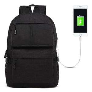 Universal Multi-Function Oxford Cloth Laptop Shoulders Bag Backpack with External USB Charging Port, Size: 46x32x12cm, For 15.6 inch and Below Macbook, Samsung, Lenovo, Sony, DELL Alienware, CHUWI, ASUS, HP(Black)
