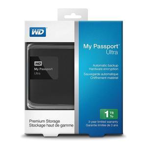 Western Digital My Passport Ultra Portable 1TB Hard Drive Black
