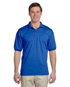 Royal Blue Mix Cotton Polo Shirt For Men