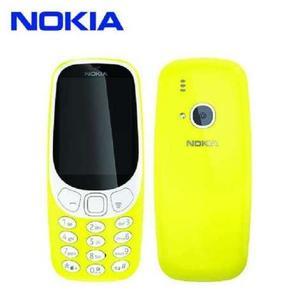 Nokia 3310 - Dual Sim - 2.4 inch Screen Qvga Display 16MB - 2 MP Camera-Yellow-Without Warranty
