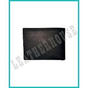 LeatherHouseTri-Fold Cow Leather Medium Wallet For Men - Black