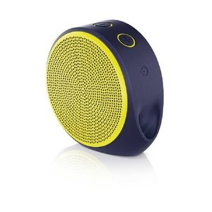Logitech X100 - Mini Wireless Portable Speaker - Yellow & Blue