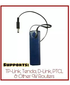 9 Volts - WiFi Router UPS Power Bank - 4 Hours Backup - Tenda Tp Link PTCL