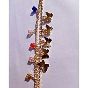 Coco's Golden Zircon Studded Anklet For Women