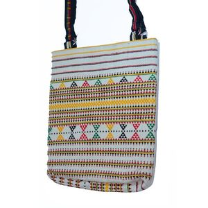 MerkaKraft Multicolour Embroidered Katha Handbag