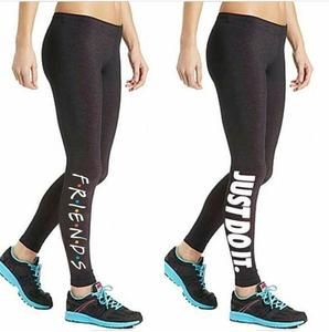 Pack Of 2 Black Printed Gym Tights For Women