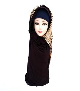 Brown Polyester Turkish Hijab Shawl for Women