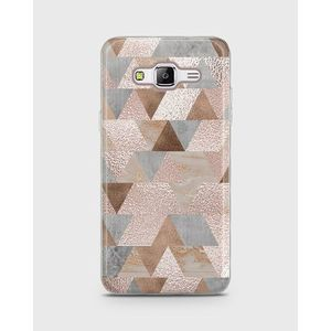 Samsung Galaxy Grand Prime Plus Soft Cover Shimmering Triangles - 1Cover482
