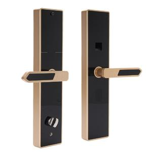4 Way Universal Smart Door Lock Fingerprint Touch Password Anti-theft Security#Gold