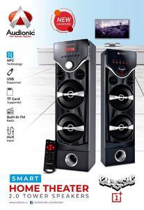 AUDIONIC CLASSIC 1+ SPEAKERS 2.0 Smart Home Theater 2.0 Tower Speakers bluetooth CLASSIC ONE PLUS CLASIC 1 PLUS CLASSIC 1 +