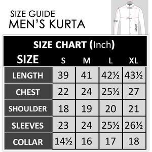 Cut Price Purple White Karhai Stitched Kurta for Men