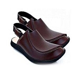 Z & H Style Brown Color Comfortable Traditional Peshawari Sandal For Men