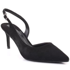 "Women ""Cherry"" Shimmery Pointy Toe Sling Back Stiletto Heel Sandals  L31717"