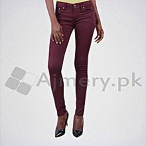 The Ajmery Women's Maroon Casual Slim Fit Jeans. KT-82
