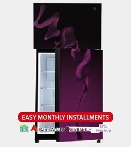 PEL INVERTER CURVED GLASS DOOR Series Top Mount Refrigerator - PRINVOGD 20170 - 370 L - Purple Blaze