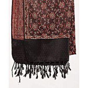 Misbah's StyleBlack,Red & Beige Floral Pashmina Shawl