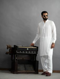 Bonanza Satrangi Whte Color Kameez Shalwar For Man