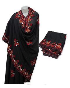 Multicolour Polyester & Cotton Shawl For Women