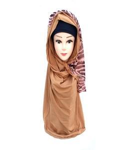 Bronze Polyester Turkish Hijab Shawl for Women