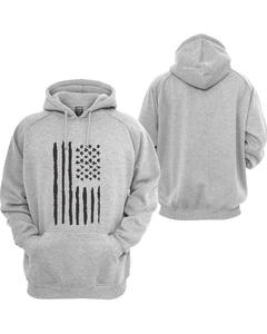 Heather grey Printed Pullover Hoodie