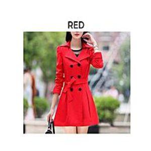 ModernStylishStoreRed Fleece Winter Coat For Women