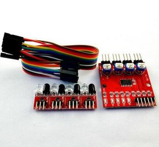4 Way Infrared Ir Tracking Line Following Arduino Robot Sensor Module