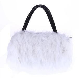 Lady Girl Pretty Cute FauxFur Handbag Shoulder Messenger Bag Tote