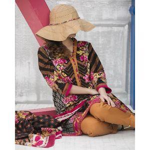 Multicolor Floral Printed Lawn Suit For Women - 3 Pcs