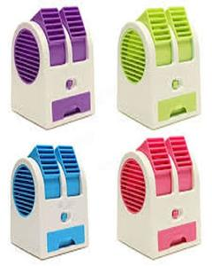 Mini USB AC Fragrance Air Conditioner Cooling Fan Cooling Portable Desktop Dual Bladeless Air Cooler