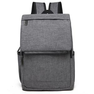 Universal Multi-Function Canvas Laptop Computer Shoulders Bag Leisurely Backpack Students Bag, Size: 42x30x12cm, For 15.6 inch and Below Macbook, Samsung, Lenovo, Sony, DELL Alienware, CHUWI, ASUS, HP(Grey)