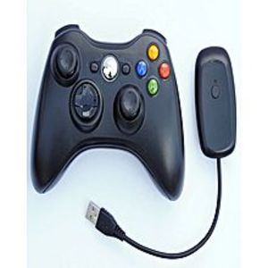 MicrosoftWireless Game Pad 100% Original Controller for Use With Microsoft Xbox 360 and PC With Receiver (Black)