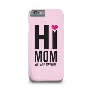 Hi Mom Printed Mobile Cover (Samsung J7)