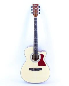 Semi-Acoustic Guitar 40''C With FishMan LED Tuner EQ - Brown