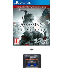 PLAYSTATION 4 DVD Assassin's Creed III Remastered PS4 GAME PLUS KONTROL FREEK