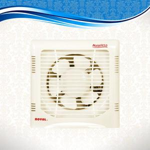 "Royal Fans Exhaust Fan - Plastic Body Fancy - Copper Winding - 12""x12"" Fitting - Off White"