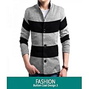 AN Fashion Fashionable Button Style Coat For Men