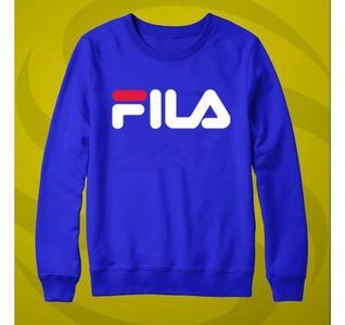 Blue FILA Printed Sweatshirt
