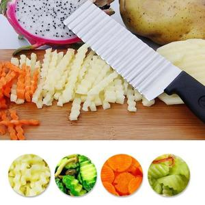 Potato French Fry Cutter Stainless Steel Kitchen Accessories Serrated Blade Easy Slicing Banana