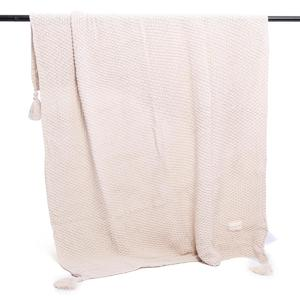130*170cm Hand-woven Warm Soft Chunky Knit Blanket Bedding Sofa Knitted Throw --- Off White / Grey / Coffee