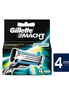 Gillette Mach 3 Shaving Razor Carts 4s