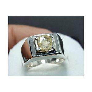 Unheated Ceylon Yellow Sapphire Handmade Pukhraj Ring