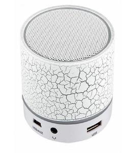 LED Bluetooth Mini Speaker - White