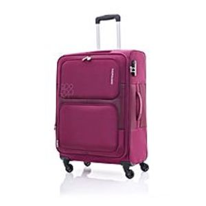 KamiliantToro - 80cm Spinner -4 Wheels Soft Trolley Suitcase- Magenta