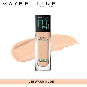 Maybelline New York Fit Me Matte + Poreless Foundation (315 Warm Nude-30ml)