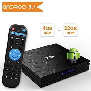 T9 Android 8.1 TV BOX, 4GB RAM 32GB ROM RK3328 Quad Core